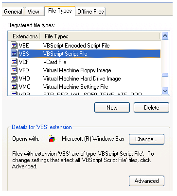 VB Scripts Opening in Notepad